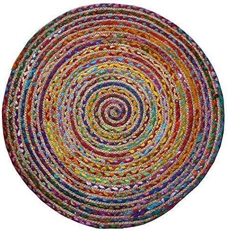 Alfombra Redonda de algodón / Yute Trenzado de Comercio Justo (120 ...