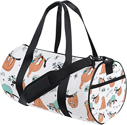 Watercolor Hearts Duffel Style Carry On Sports Travel Bag with Shoulder Strap Zippered Compartments