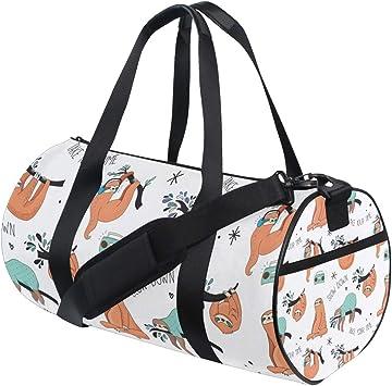Travel Luggage Duffle Bag Lightweight Portable Handbag Sloth Print Large Capacity Waterproof Foldable Storage Tote