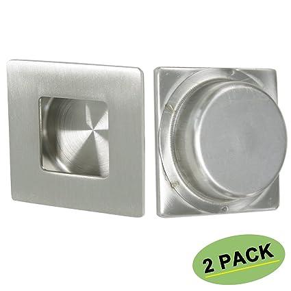 Square Flush Pull Sliding Closet Door Finger Pull 2 Pack Homdiy