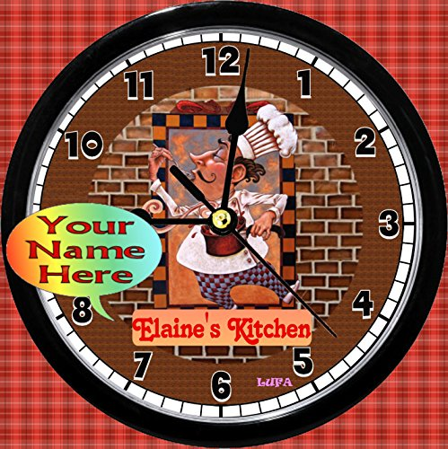 Personalized French Chef Kitchen Wall Clock (9