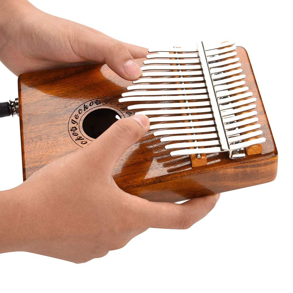 Kalimba 17 keys with Instruction and Tune Hammer, Portable 17 Key Wood Kalimba Thumb Piano Mbira Traditional Musical Instrument, Kalimba Thumb Piano Solid Finger Piano by Yosoo (Image #8)