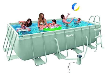 INTEX 28350 - Piscina (Piscina con anillo hinchable, Rectangular)