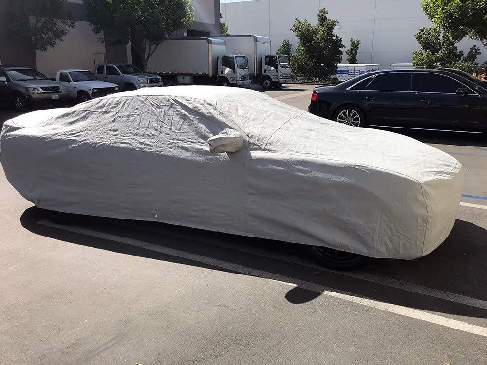 CarsCover Custom Fit 2006-2019 Dodge Charger Car Cover 5 Layer Ultrashield Gray Covers SE, SXT, R//T, Daytona, SRT, Hellcat