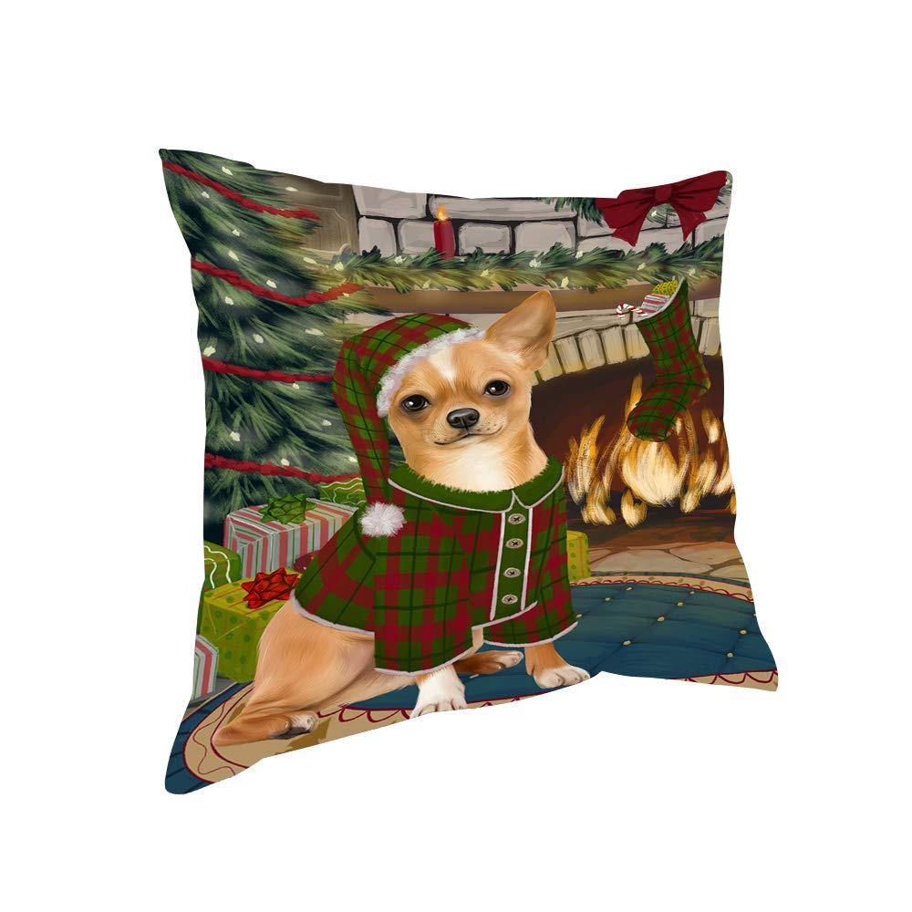 Amazon.com: The Stocking was Hung Chihuahua Dog Pillow ...