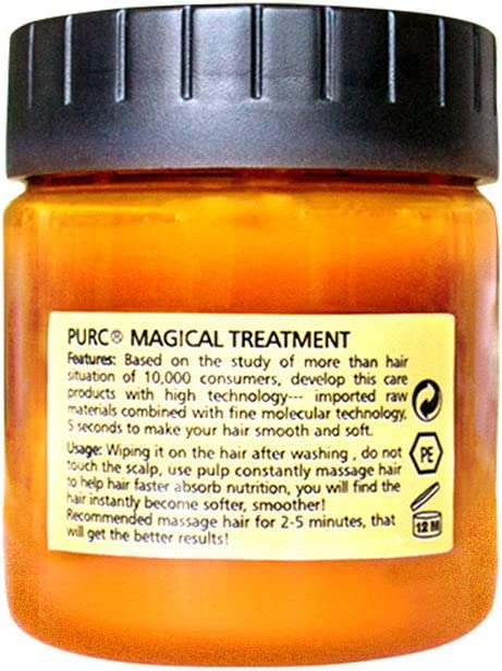 Luccase Haarmaske 60 /120 ml Magische Haarmaske Stellen Sie weiches Haar Wieder Her Keratin Haar Kopfhaut-Behandlung Haarmaske für Alle Haartypen (B) A