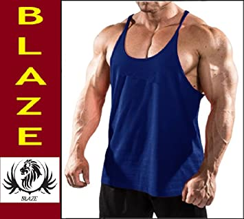 43f8ef54666435 Buy Blaze - (Pack Of 1-2-3) Stringer Gym Tank Top Vest Vests For Men ...