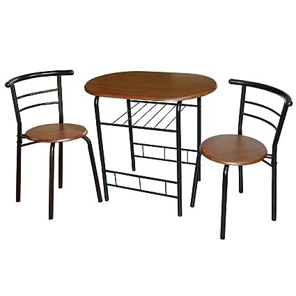 Amazon.com - Target Marketing Systems 3-Piece Bistro Dining Set ...