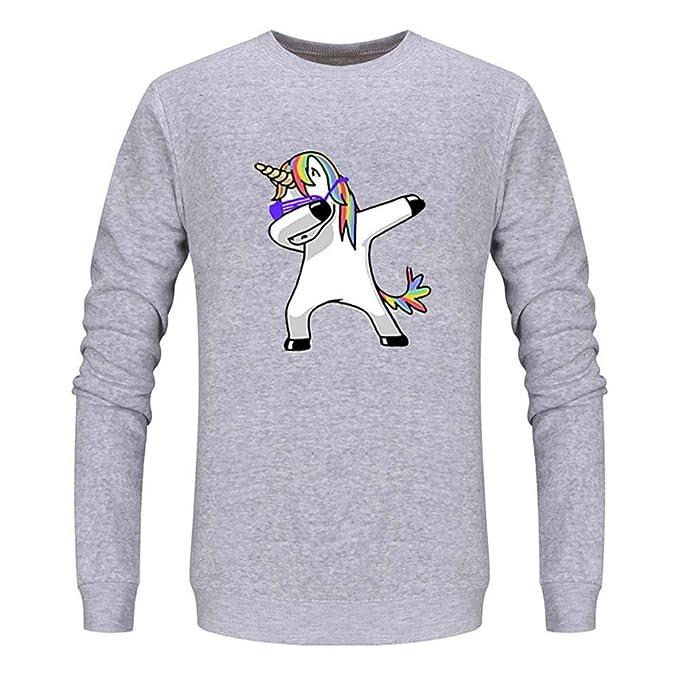Donna Felpa T Da Unicorno Juleya A Shirt Pullover Divertente b7f6yYg