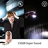 130 dB Safe Sound Personal Siren Alarm Glowiny