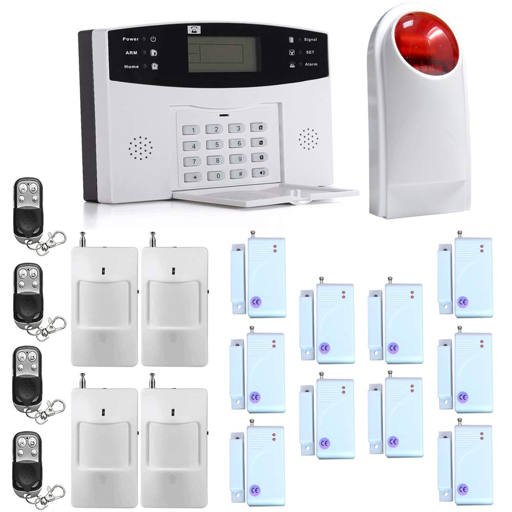ECTECH - Kit de sistema de alarma antirrobo GSM inalámbrico, sistema de seguridad para el hogar, dispositivo antirrobo con función de autollamada