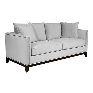 Amazon.com: La Brea Studded Apartment Size Sofa, Stone, 60 ...
