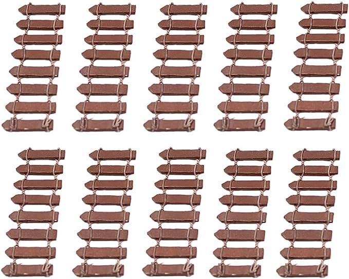 Simiday Miniatur-Gartenzaun Sukkulente Topfblumen Bonsai dekorative Mini-Holz-Zaun 100x3cm Wei/ß