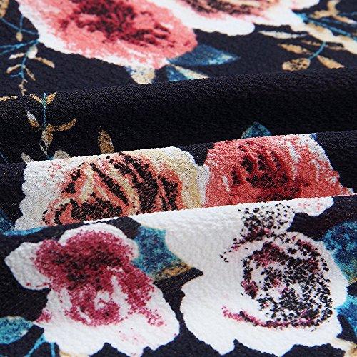 Navy 8 Only sul Cappotto da Floreale Calda Donna Giacca Kimono Beikoard Pizzo Kimono Aperta in Cappotto Cerniera Casual Floreale Allentato Casual Cardigan Davanti Soprabito con gxqwASYndY