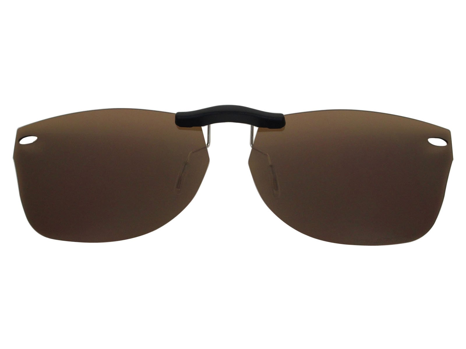 Custom Fit Polarized CLIP-ON Sunglasses For Ray-Ban RB5184 52X18 Brown