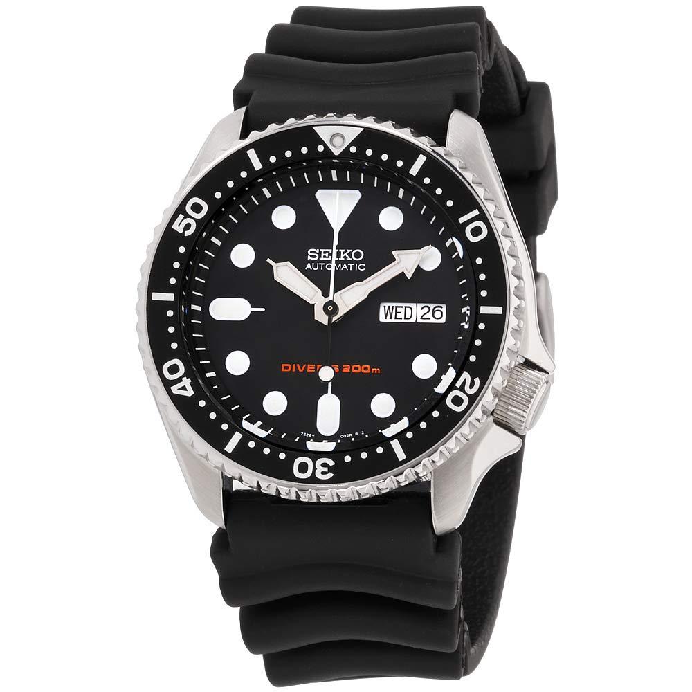 Seiko Divers Black Dial Rubber Strap Men's Watch SKX007P9