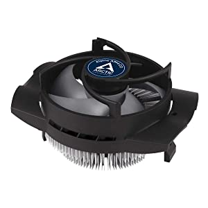 Arctic Alpine AM4 CO - Compact CPU Cooler for AMD Socket and Continuous Operation, Recommended for TDP up to 100 W, Pre-Applied Thermal Compound