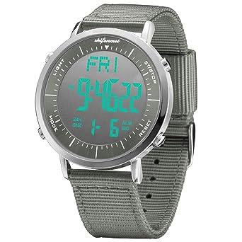 Amazon.com: Relojes digitales unisex, shifenmei Multifunción ...