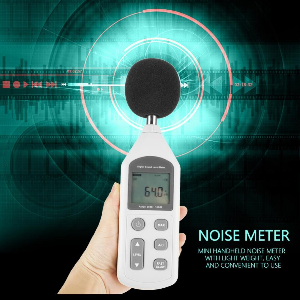 Akozon GM1357 Handy Mini Digital Noise Meter Sound Level Meter Noise Measuring Instrument by Akozon (Image #6)