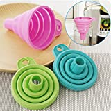 Lucrative shop Silicone Foldable Funnel Hopper Portable Cooking Gadgets Tool Kitchen Accessories
