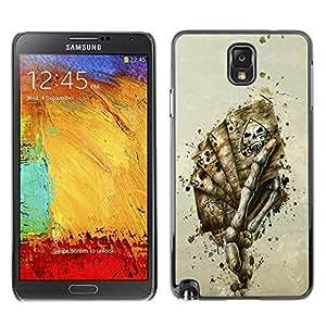 MEIMEIGagaDesign Phone Accessories: Hard Case Cover for Samsung Galaxy Note 3 - Skeleton Hand Of CardsMEIMEI