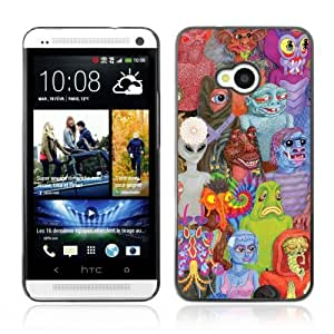 YOYOSHOP [Funny Abstract Space Aliens] HTC One M7 Case
