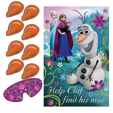 Nase-Anpinn-Spiel mit Olaf aus Disney's Die Eiskönigin Amscan International ltd AM-271416