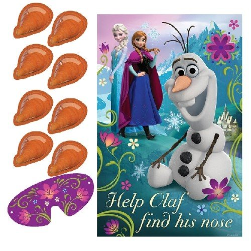 "Amscan AM-271416 Disney Frozen Birthday Party Game Activity Supplies (8 Pack), Multi Color, 37 1/2 x 24 1/2""."