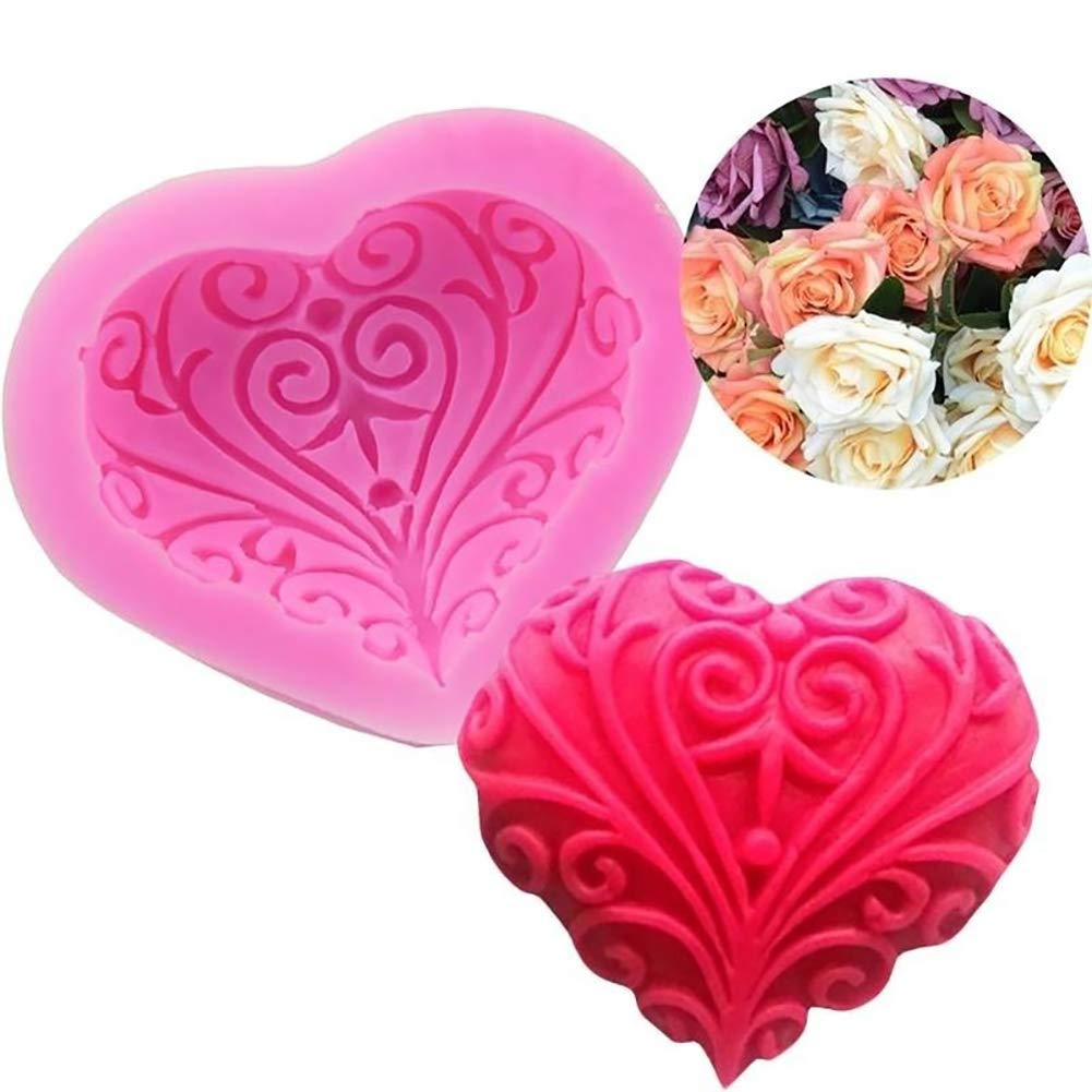 Love Heart Silicone Mold Cake Fondant Chocolate DIY Baking Valentine's Day Gift - Heart