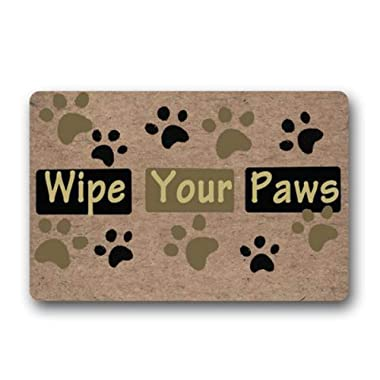 Awater Funny Doormat Wipe Your Paws Non-Slip Rubber Entrance Mat Floor Mat Rug Indoor/Outdoor/Front Door/Bathroom Mats Personalized 29.in(W) x 17.7in(L)
