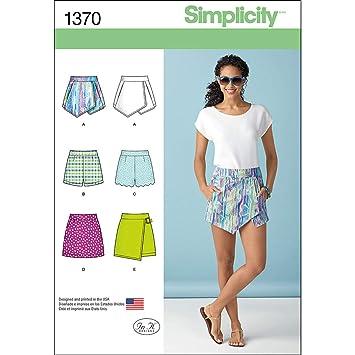 Simplicity 1370 Größe P5 Schnittmuster Shorts Skort und Rock ...