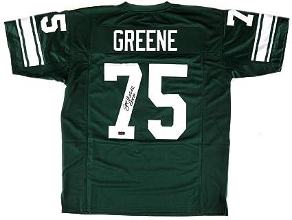 online retailer 0111e 89cfa Joe Greene Signed North Texas Mean Green Custom Jersey With ...