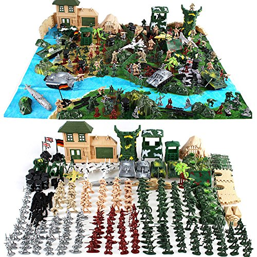 Cp-Tree Huge Simulated Battlefield Play 300 Piece Military Base Set Suit for $<!--$29.99-->