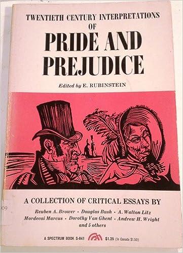 twentieth century interpretations of pride and prejudice a twentieth century interpretations of pride and prejudice a collection of critical essays e rubinstein 9780136999003 com books