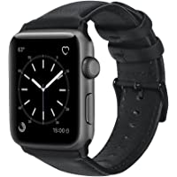 House of Quirk for iWatch Band 42mm, Vintage Genuine Leather iWatch Strap Replacement for iWatch Series 3 Series 2 Series 1 Sport and Edition (Watch No Included)