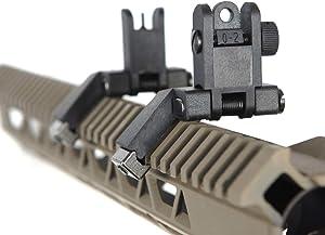 IORMAN Ultralight Flip Up Sight 45 Degree Offset Rapid Transition Front and Backup Rear Sight