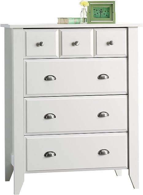 Amazon Com Sauder Shoal Creek 4 Drawer Dresser Soft White Finish Furniture Decor