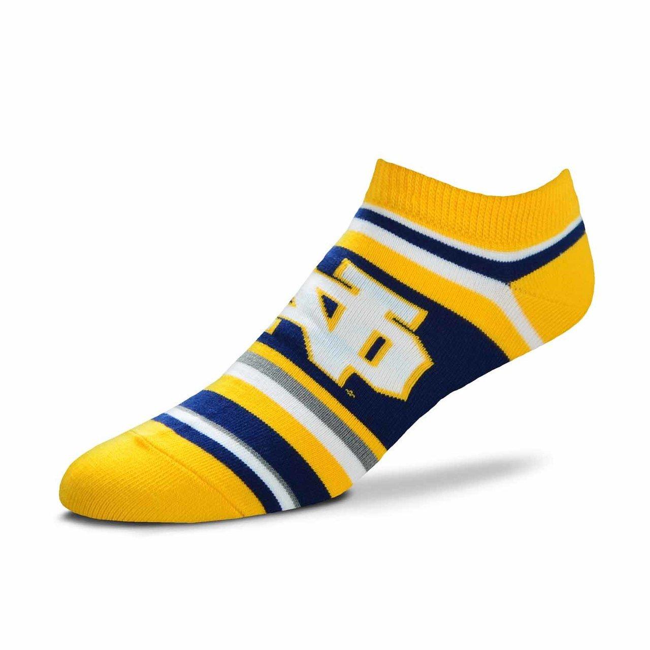 For Bare Feet Notre Dame Fighting Irish Adult NCAA Lotta Stripe Socks - Team Color, Large