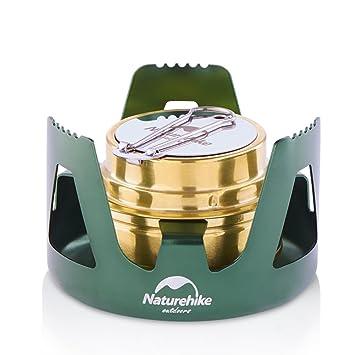 tentock portátil al aire libre Cookware Mini estufa de gas líquido sólido Alcohol estufa de Camping Picnic barbacoa, verde: Amazon.es: Deportes y aire libre