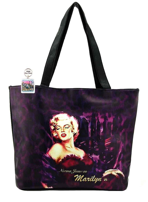 Marilyn Monroe Large Purse, Purple, Plus Key Chain