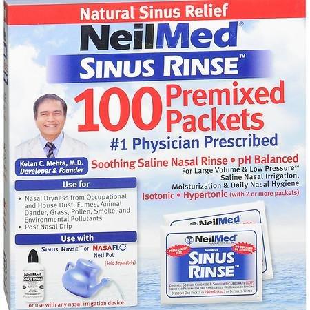 NeilMed Sinus Rinse Saline Nasal Rinse Premixed Packets - 3PC
