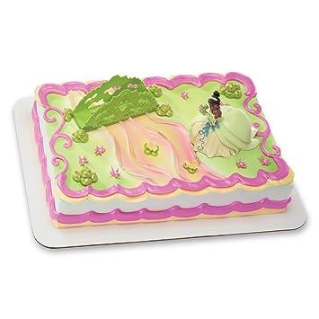 Sensational Decopac Princess And The Frog Tiana And Bridge Decoset Cake Topper Funny Birthday Cards Online Elaedamsfinfo