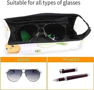 Amazon.com: Estuche para gafas de color rosa con diseño de ...