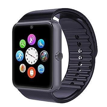 2016 Nuevo Bluetooth reloj inteligente GT08 para Apple iPhone iOS Android sincronizacion inteligente usar de apoyo la muñeca reloj doble tarjeta PK DZ09 ...