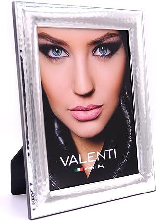 Cornice Portafoto Lucida Martellata Valenti Argenti cm 15x20 in Argento