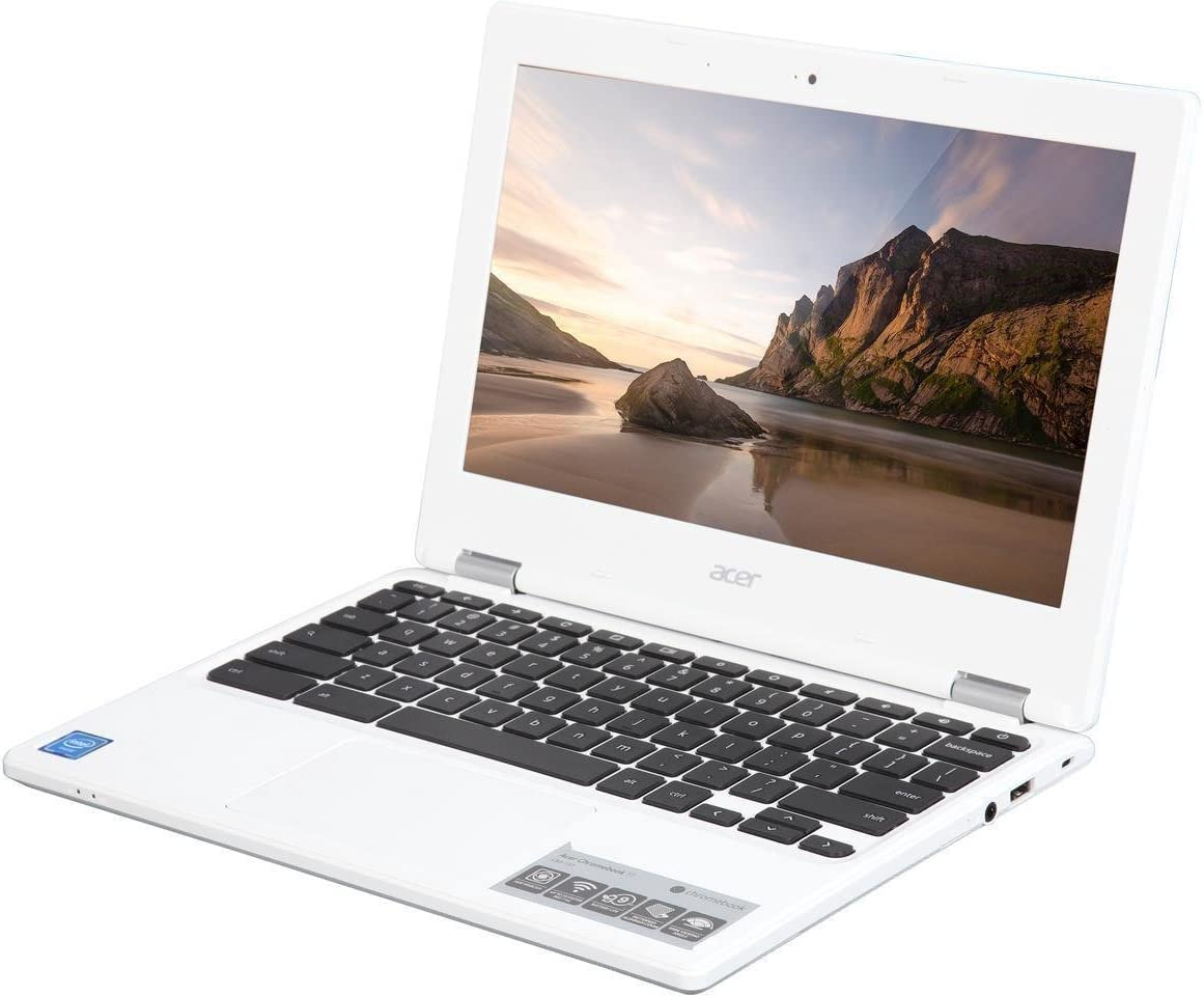 Acer Chromebook 11 CB3-131-C3KD Intel N2840 2GB 16GB 11.6-inch 802.11ac - White (Renewed)