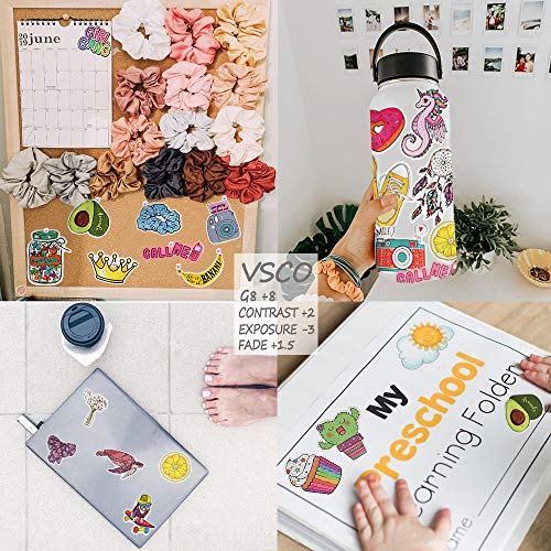 QTL VSCO Stickers for Teen Girls Cute Stickers for Hydroflask Waterproof Stickers for Tween Girls Laptop Stickers for…