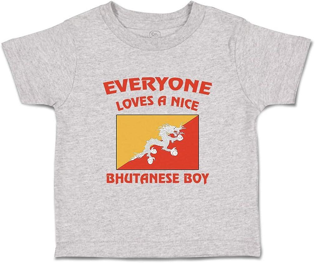 Custom Baby /& Toddler T-Shirt Everyone Loves A Nice Bhutanese Boy Cotton