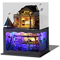 CUTEBEE Dollhouse Miniature with Furniture, DIY Wooden Dollhouse Kit Plus Dust Proof , 1:24 Scale Creative Room Idea