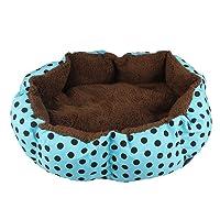 Bestpriceam Soft Fleece Pet Dog Puppy Cat Warm Bed House Plush Cozy Nest Mat Pad (36cmX30cm, Blue)
